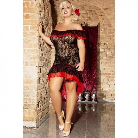 Andalea erotyczny strój Tancerki Flamenco duże rozmiary Flamenco S/3018 od 38 do 56