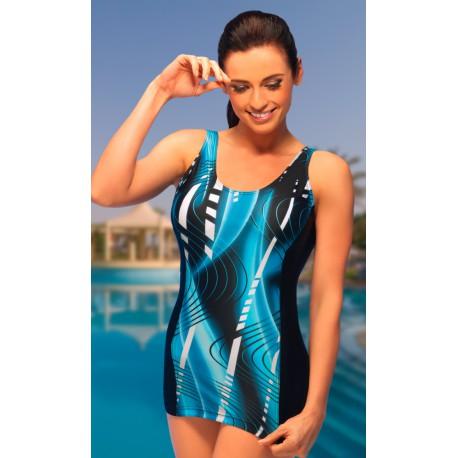 Jadwiga jednoczęściowy kostium kąpielowy na duży brzuch duże rozmiary od 46 do 60