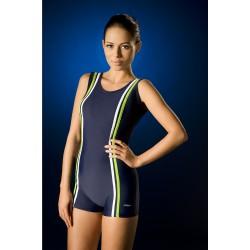 Sara gładki jednoczęściowy strój kąpielowy ze spodenkami duże rozmiary od 46 do 60