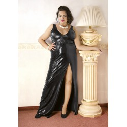 Andalea wieczorowa sukienka z lateksu w dużych rozmiarach C/4005 rozmiary od 38 do 56