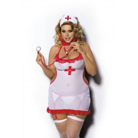 Anais sexy koszulka pielęgniarka duże rozmiary SHANE od XL do 6XL