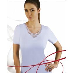 Emili bawełniana bluzka damska w dużych rozmiarach LIBRA 3XL
