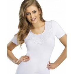 Emili biała bluzka damska w dużych rozmiarach AURORA 3XL