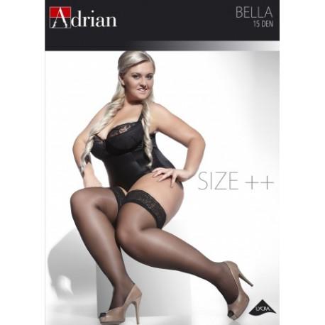 Adrian pończochy samonośne duże rozmiary Bella Size Plus 15 Den