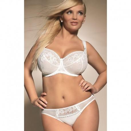 KrisLine miękki biały biustonosz duże rozmiary Brillant Soft rozmiary od 80 do 115