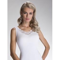 Eldar czarna lub biała koszulka damska w dużych rozmiarach Samira XXXL