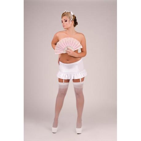 Andalea biały pas do pończoch duże rozmiary Blackberry Short M/1055 od 38 do 56