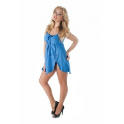Andalea seksowna niebieska koszulka nocna duże rozmiary SW/115 od 38 do 56