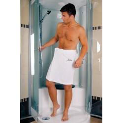 Tamer K2 Bawełniany bardzo duży ręcznik męski do sauny frotte zapinany na rzep