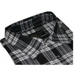 Boston Public flanelowa koszula męska duże rozmiary szara długi rękaw ROZMIARY 39-48