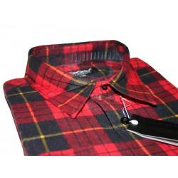 Toronto Duża koszula męska Flanelowa kolor czerwona długi rękaw ROZMIARY 39-47