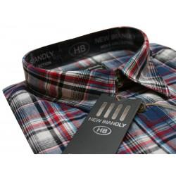 New Biandly bawełniana koszula męska duże rozmiary czerwona długi rękaw ROZMIARY 47-55