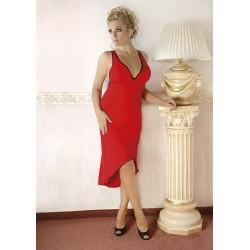 Andalea czerwona sukienka w dużych rozmiarach M/1073 rozmiary od 38 do 56
