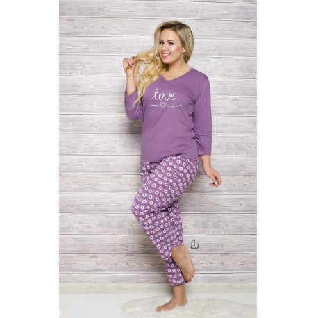 Piżama damska 100% bawełna Maxi Felicja 4XL 5XL
