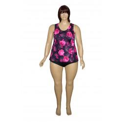 Jadwiga3 jednoczęściowy strój kąpielowy duże rozmiary od 46 do 64