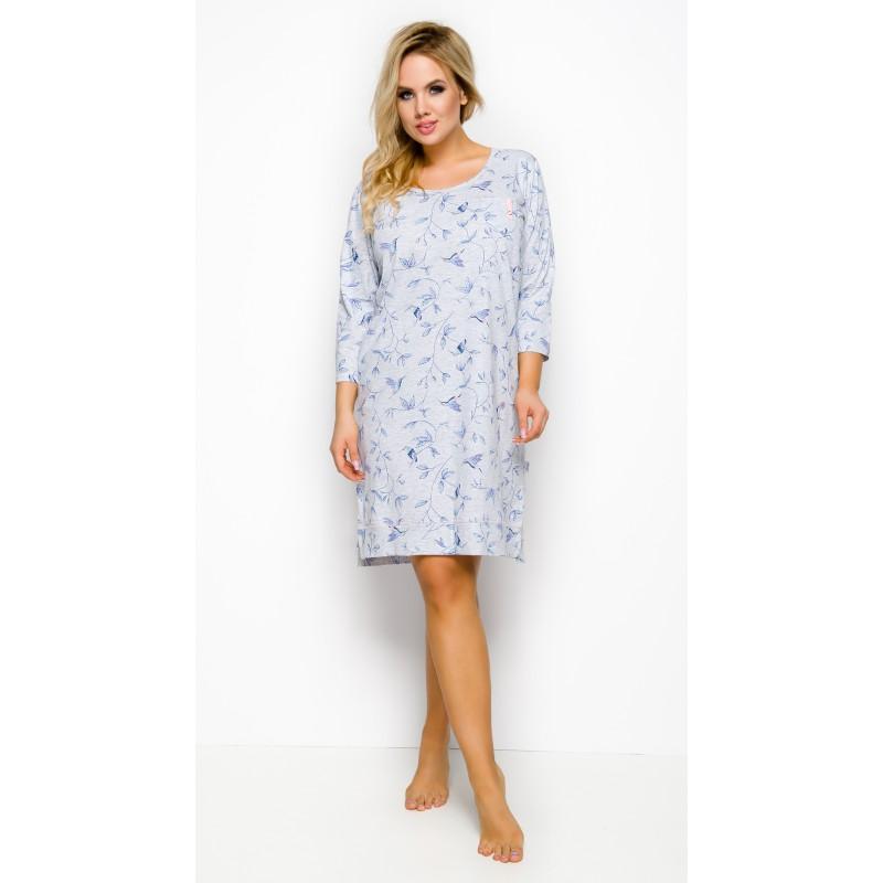 Ciepłe koszule nocne damskie XXL, 3XL, 4XL z bawełny długie