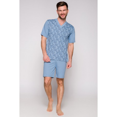 Taro piżama męska duże rozmiary krótkie rękawy Roman 4XL 5XL 6XL