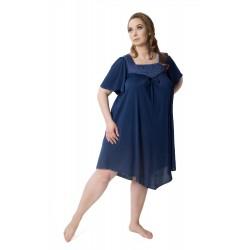 Mewa 0388 jedwabna koszula nocna duże rozmiary Józefina od 50 do 58