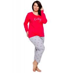 Piżama damska w dużych rozmiarach BAWEŁNA Taro Rita