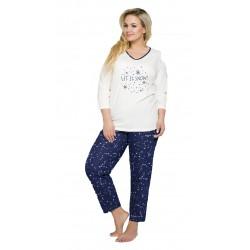 Piżama damska duże rozmiary 100% Bawełna Lena do 6XL