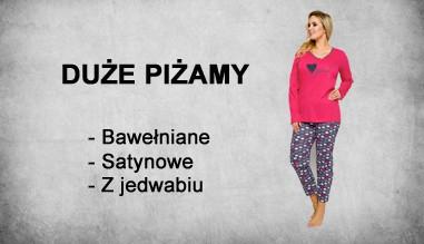 Piżamy damskie duże rozmiary